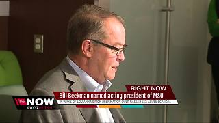 Bill Beekman named acting president of Michigan State University - Video