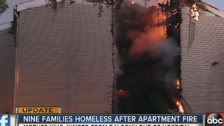 Mom recovering after jumping from balcony with kids to escape fire - Video