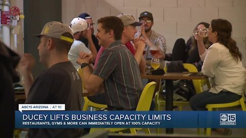 Ducey lifts business capacity limits