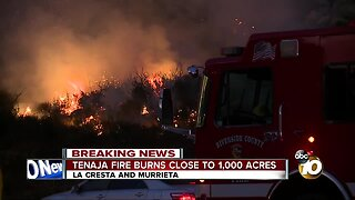 Large brush fire sparks amid thunderstorms in Riverside County