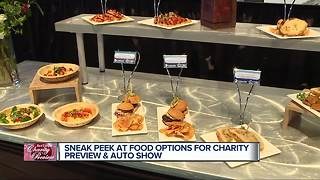 Sneak preview at food options during Detroit auto show - Video