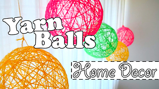 DIY home decor: Yarn balls