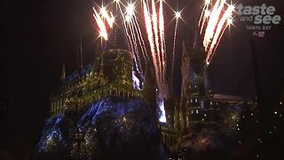 Christmas in The Wizarding World of Harry Potter at Universal Orlando - Video