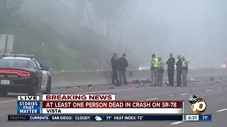 Woman dies in North County crash - Video