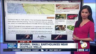 Swarm of earthquakes in Southern California