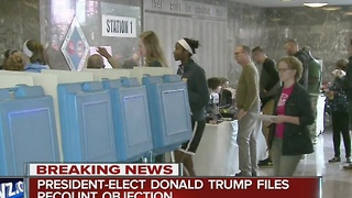 Trump objects to Michigan recount - Video