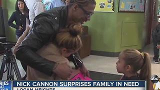 Nick Cannon surprises Logan Heights family at Boys & Girls Club - Video