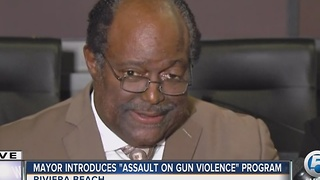 Riviera Beach mayor introduces 'assault on gun violence' program - Video