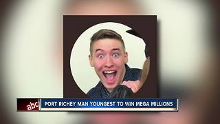 Port Richey man youngest to win Mega Millions - Video