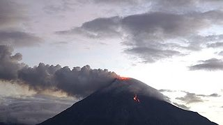 Colima Volcano Eruption Looks Beautiful In Evening Light - Video