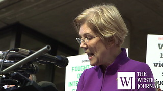Elizabeth Warren rallies against Mulvaney