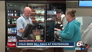 Bill to allow grocery, convenience stores to sell cold beer fails in Senate