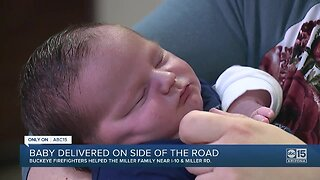 Baby delivered on the side of the road