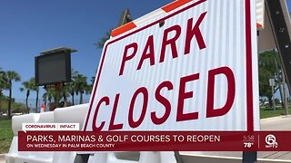 Golf courses, boat ramps, parks to reopen Wednesday in Palm Beach County