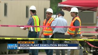 Didion Plant demolition begins - Video