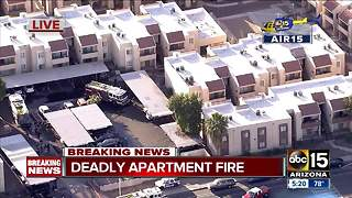 Body found after fire at Phoenix apartments