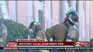 Four units damaged in vacant apartment fire - Video