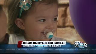 Little girl with heart disease gets dream playground from Tucson company - Video