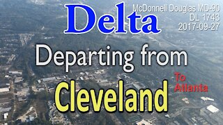 McDonnell Douglas MD-90 Delta flight DL1743 takeoff from Cleveland