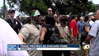 Protest over murals in Chicano Park - Video