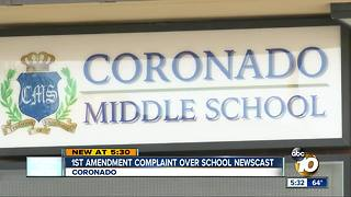 Coronado students protest alleged censorship - Video