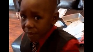 Little Boy Gets Himself in a Pickle When He Tries Some Spicy Food - Video