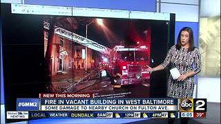 Baltimore home, neighboring church damaged in fire