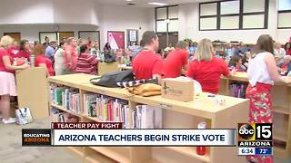 Arizona teachers voting on whether or not to go on strike - Video