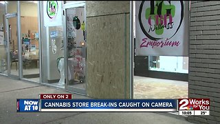 Cannabis store break-ins caught on camera