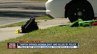 Knife-wielding woman killed in officer-involved shooting in Tarpon Springs - Video