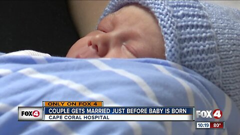 Cape Coral couple welcomes a baby and marriage