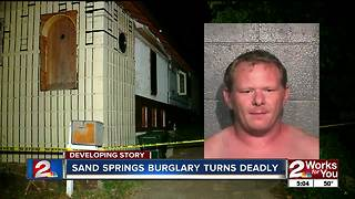 After multiple break-ins, Sand Springs man shoots suspect during burglary - Video