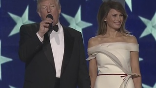 President Donald Trump arrives at Freedom Ball