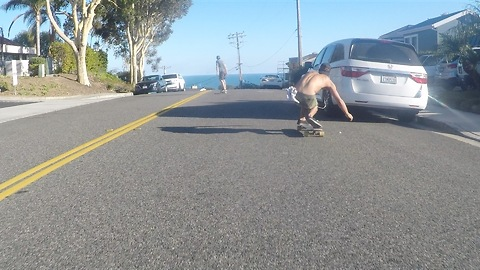 Insane GoPro Hood Mount Skateboarding