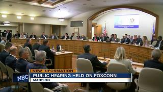 Tax breaks for Foxconn plant considered in public hearing - Video