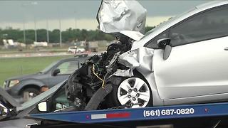 Deadly crash near airport - Video