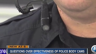 Questions over effectiveness of police body cams - Video