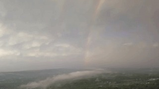 Rainbow Appears During a Lighting Storm in Chester County, Pennsylvania - Video