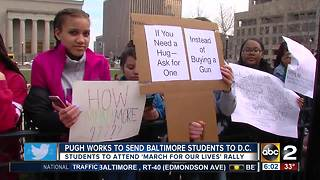 Baltimore Mayor keeps promise to send students to March For Our Lives - Video