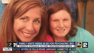 Maryland family waits weeks in the ER for juvenile psychiatric bed - Video