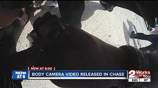 Body camera video released of chase