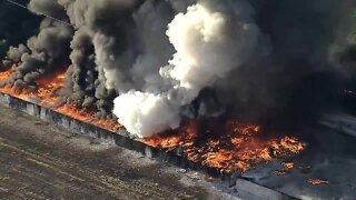 Firefighters battling massive blaze at Dallas-area plastics warehouse