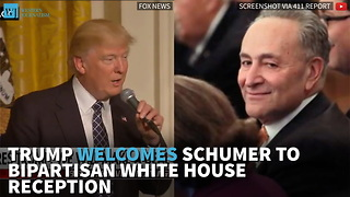 Trump Welcomes Schumer To Bipartisan White House Reception - Video
