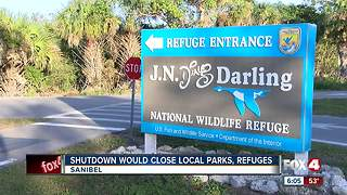 Government shut down would close Sanibel wildlife refuge - Video