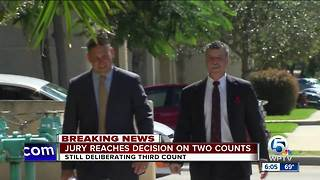 Jury reaches decision on two counts - Video