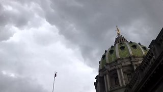 Storms Roll Through Harrisburg Region of Pennsylvania - Video