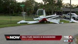 Small plane crashes in Punta Gorda