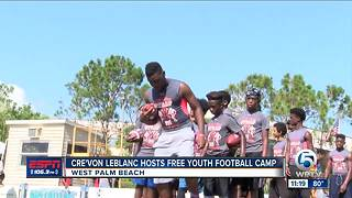 Cre'von LeBlanc hosts free football camp at Keiser University - Video