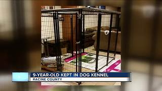 Racine County grandmother accused of locking granddaughter in dog cage - Video