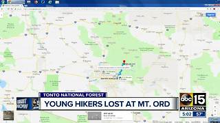 MCSO called to help young hikers on Mount Ord Saturday night - Video